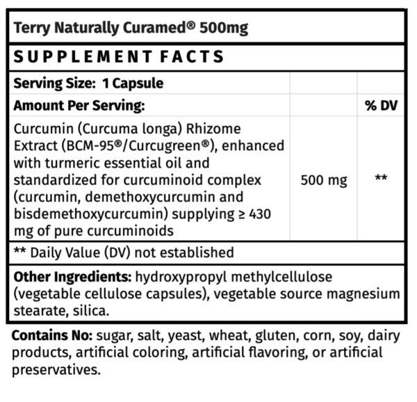 Terry Naturally CuraMed 750mg The Healthy Place Madison WI