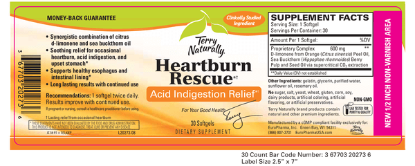 Terry Naturally Heartburn Rescue supplement facts