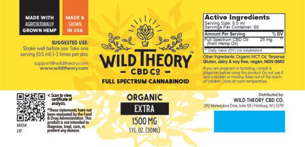 Wild theory cbd full spectrum 1500mg