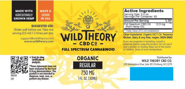 Wild Theory Full Spectrum CBD Oil 6000mg 2oz