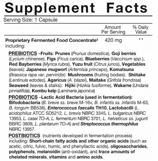 dr. ohhira's probiotics professional formula fermented natural probiotics madison wi