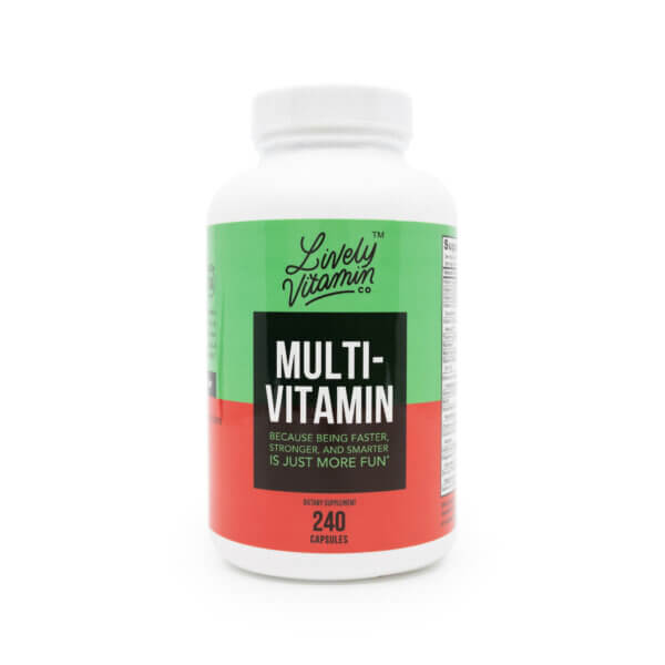 lively multivitamin 240 capsules