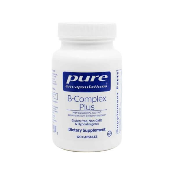pure encapsulations b-complex plus b vitamins vitamin b supplements madison wi