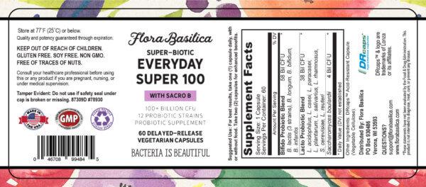 flora basilica best probiotic 100 billion