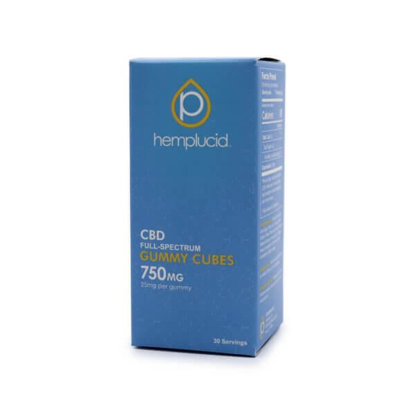 Hemplucid Whole-Plant CBD Gummy Cubes