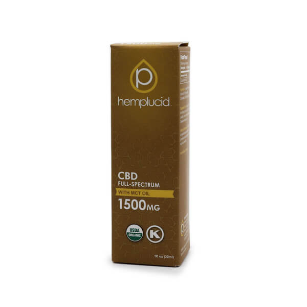 Hemplucid Whole-Plant CBD in MCT Oil 1500mg The Healthy Place Madison WI
