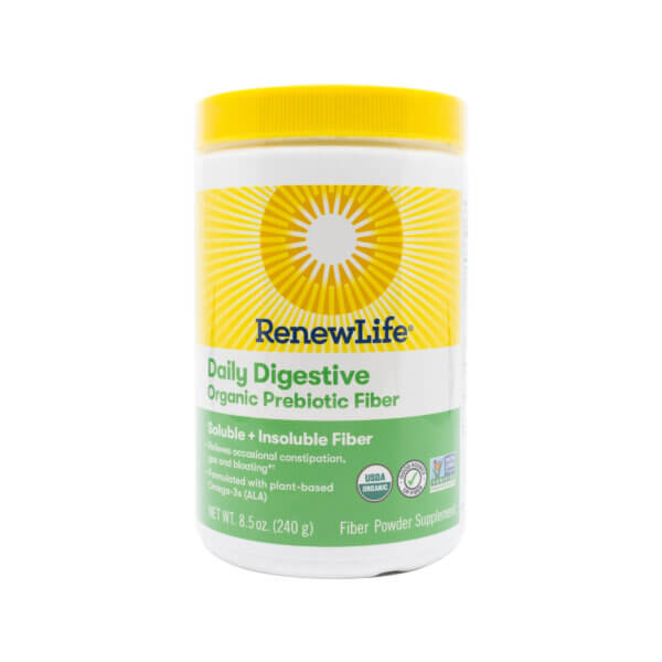 Renew Life Daily Digestive Organic Prebiotic Fiber 8.5oz (previously known as Triple Fiber)