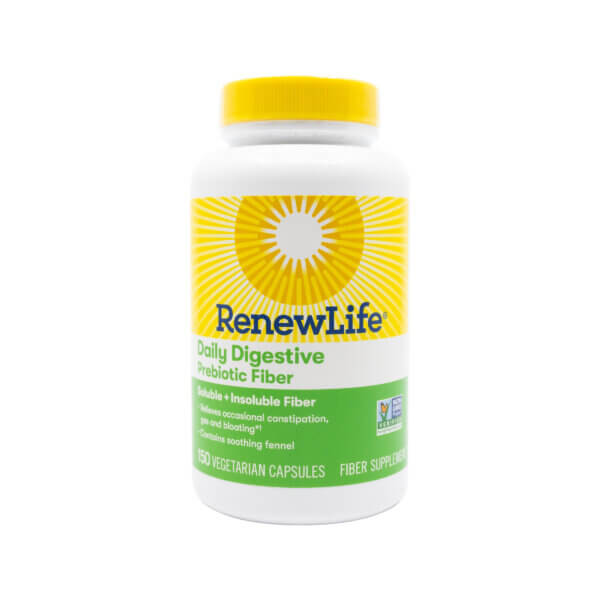 Renew Life Daily Digestive Prebiotic Fiber 150 capsules (previously known as Triple Fiber)
