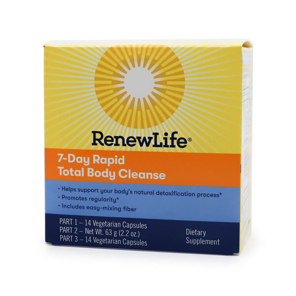 Renew Life Total Body Rapid Cleanse 7 Day 3-part Program The Healthy Place Madison WI