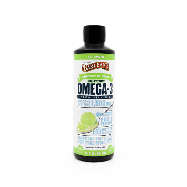 Barleans Seriously Delicious Omega-3 Fish Oil High Potency Key Lime Pie The Healthy Place Madison WI