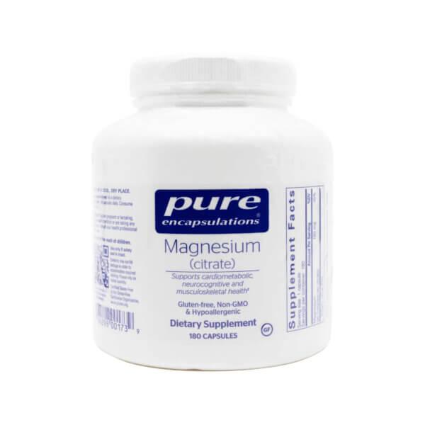 pure encapsulations magnesium citrate 150mg magnesium chelate madison wi