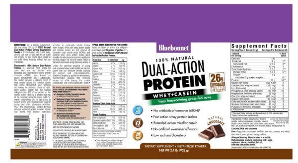 bluebonnet dual action protein powder whey protein isolate madison wi the healthy place