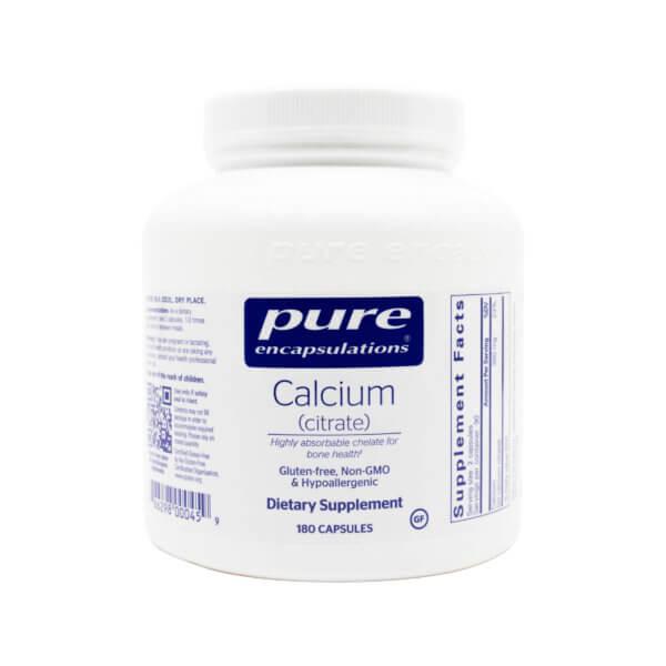 pure encapsulations calcium citrate colon support supplement madison wi