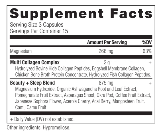 Multi Collagen Capsules Beauty and Sleep Ancient Nutrition The Healthy Place Madison WI