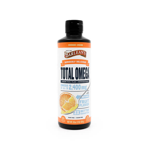 Barleans Seriously Delicious Total Omega Orange Creme the Healthy Place Madison WI