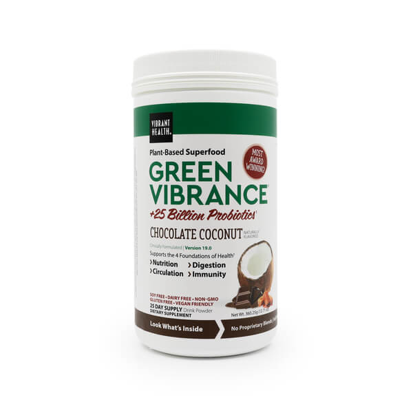 green vibrance chocolate coconut Vibrant Health The Healthy Place Madison WI