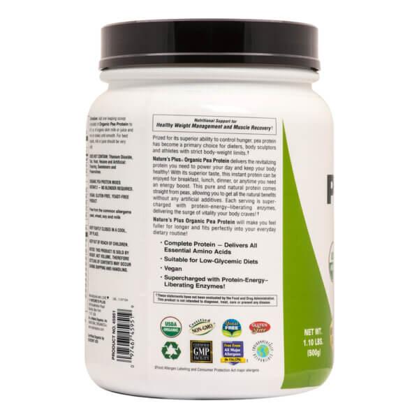 Nature's Plus Organic Pea Protein natural protein powder vegan protein powder
