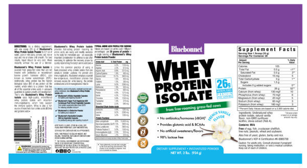 bluebonnet whey protein isolate powder madison wi the healthy place