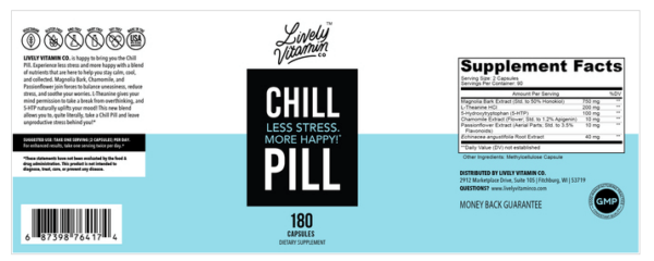 Lively Vitamin Co. Chill Pill