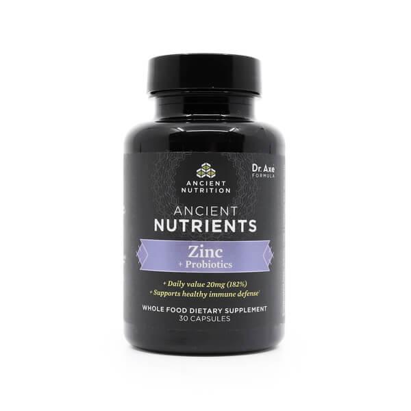 Ancient Nutrition Zinc + Probiotics supplement store WI