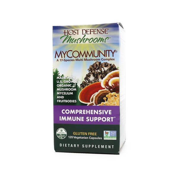 host defense my community capsules mushroom supplement