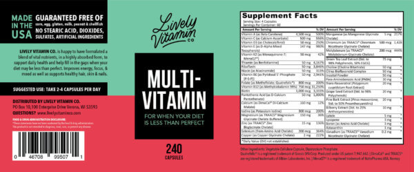 Lively Vitamin Co. MultiVitamin The Healthy Place Madison WI
