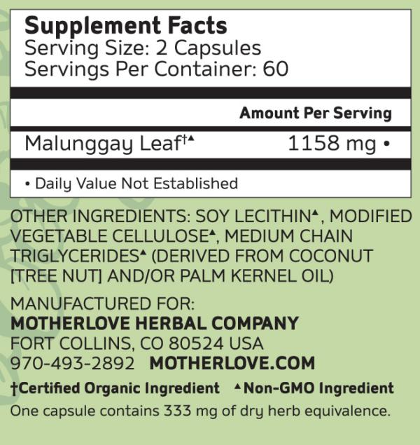 Motherlove Malunggay Moringa supplement