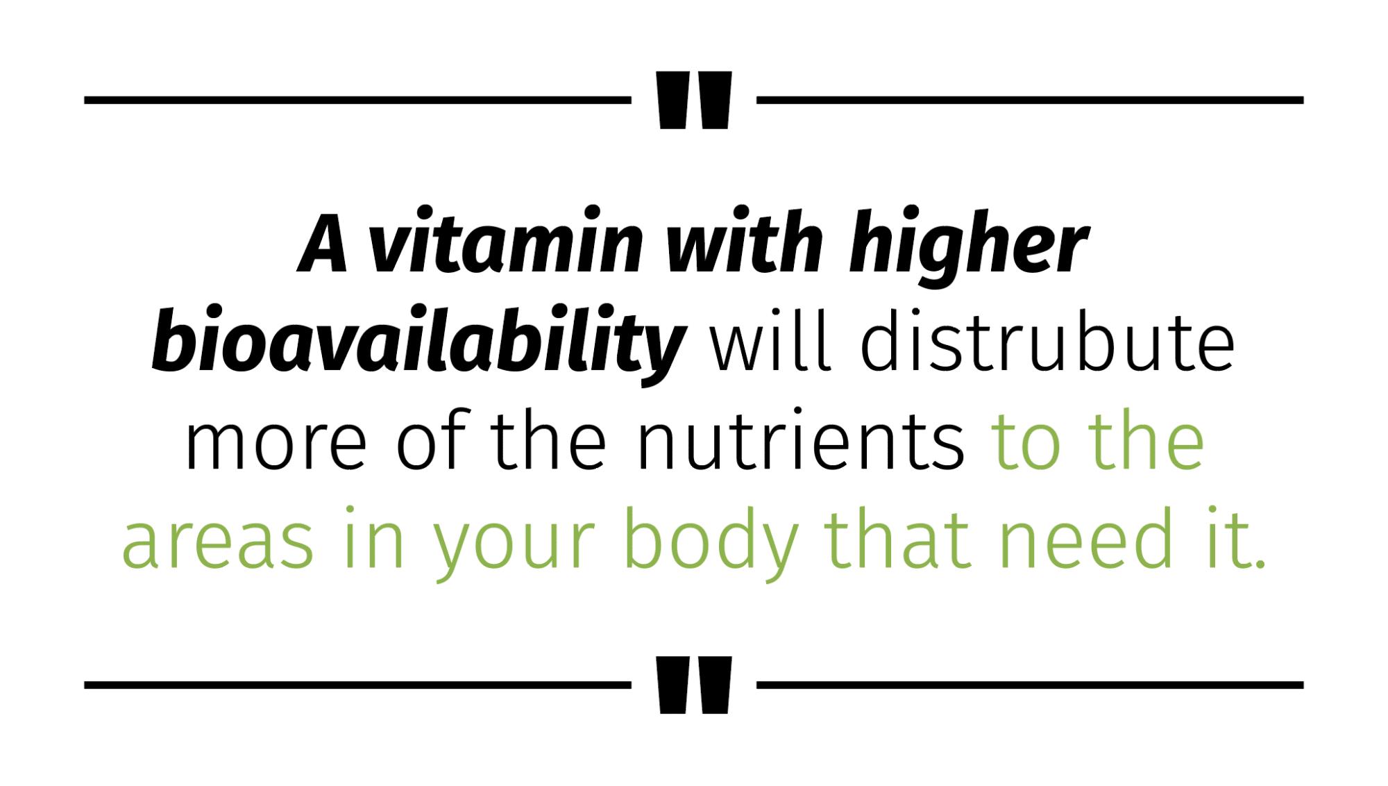 bioavailable supplements bioavailable vitamins