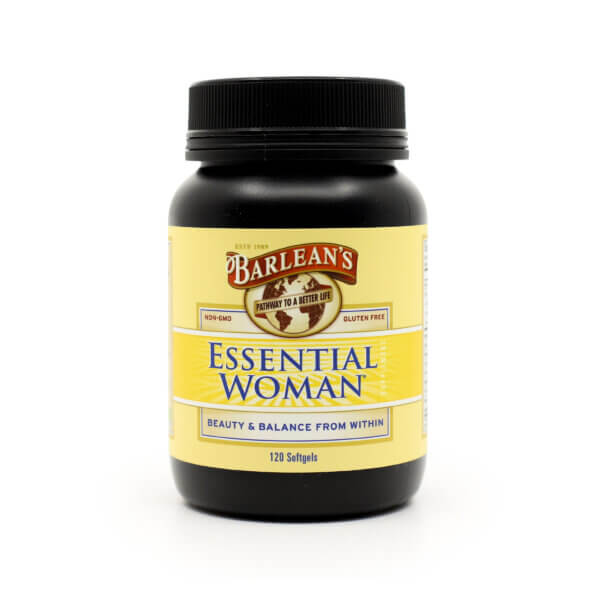 Barlean's Essential Woman supplement omegas 3, 6 and 9 and GLA supplement health food store madison wi