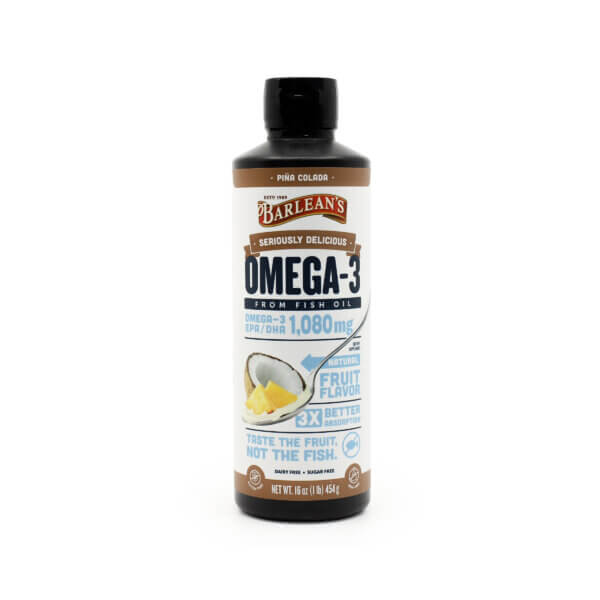 Barleans Seriously Delicious Omega 3 Fish Oil Pina Colada The Healthy Place Madison WI