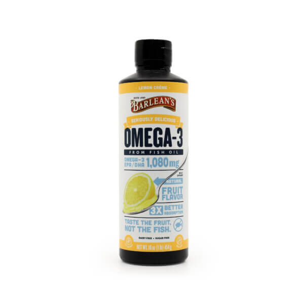 Barleans Seriously Delicious Omega 3 Lemon Creme The Healthy Place Madison WI