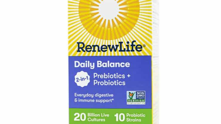 Renew Life Daily Balance 2-In-1 Prebiotics + Probiotics Supplements store madison wi digestive health