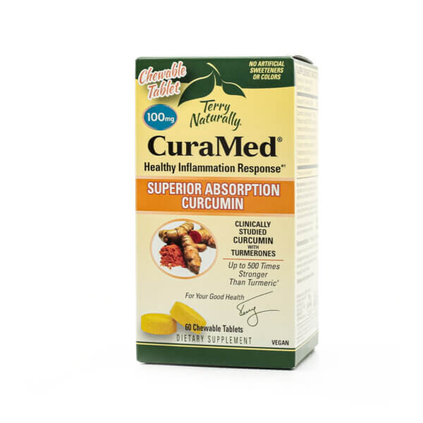 Terry Naturally CuraMed® Chewable curcumin turmeric antioxidant inflammation health food store madison wi
