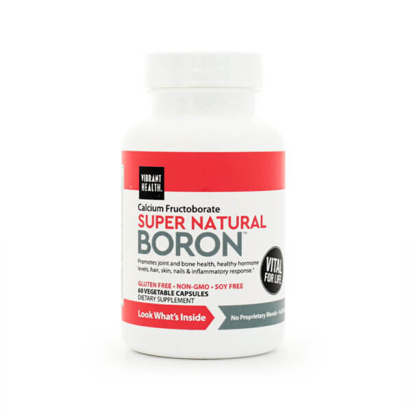 Vibrant Health Super Natural Boron supplement store madison wi the healthy place health food store