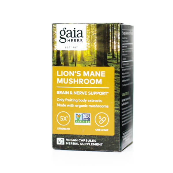 Gaia Herbs Lion's Mane Mushroom supplement store madison wi the healthy place