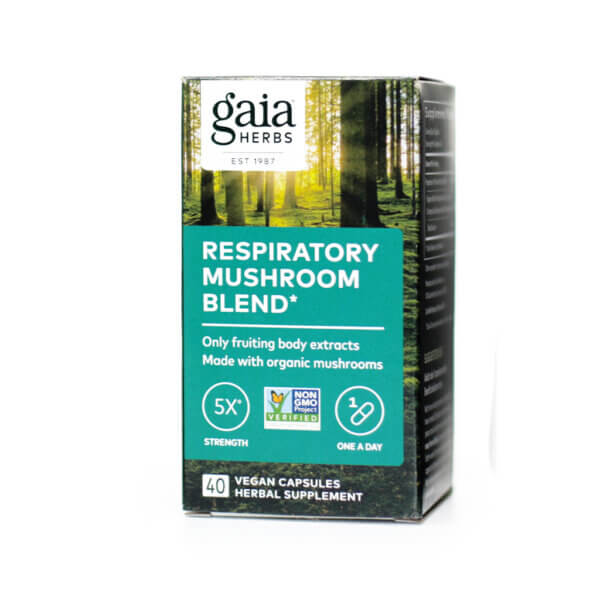 Gaia Herbs Respiratory Mushroom Blend mushroom supplements store madison wi the healthy place
