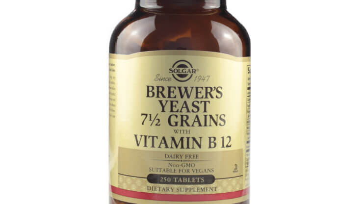 Solgar Brewer's Yeast 7 1/2 Grains with B12 the healthy Place Madison WI