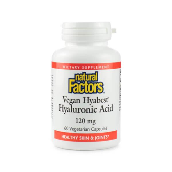 Natural Factors Vegan Hyabest Hyaluronic Acid 120mg
