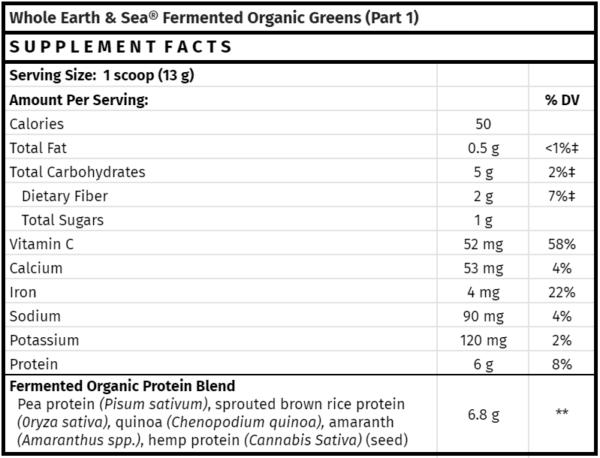 Whole Earth & Sea Fermented Organic Greens