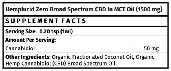 hemplucid zero broad spectrum cbd in mct oil madison wi the healthy place