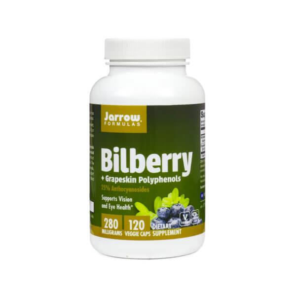 Jarrow Formulas Bilberry + Grapeskin Polyphenols bilberry for eyes eye health supplement health food store madison wi