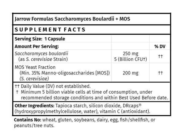 Jarrow Formulas Saccharomyces Boulardii + MOS probiotic supplement for gut health health food store madison wi the healthy place