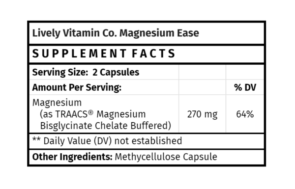 Lively Magnesium Ease 180 capsules