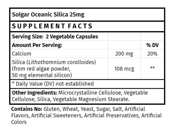 Solgar Oceanic Silica 25 mg
