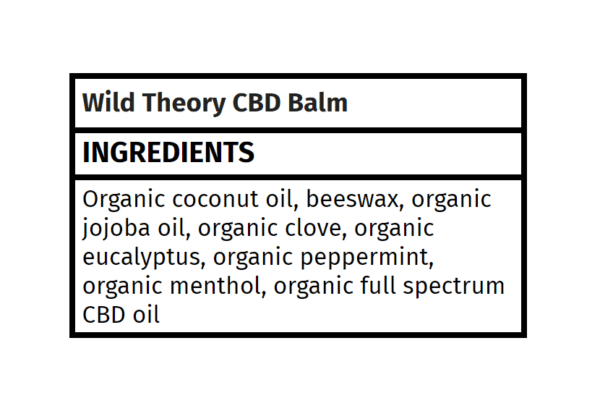 CBD balm Wild Theory The Healthy Place Madison WI