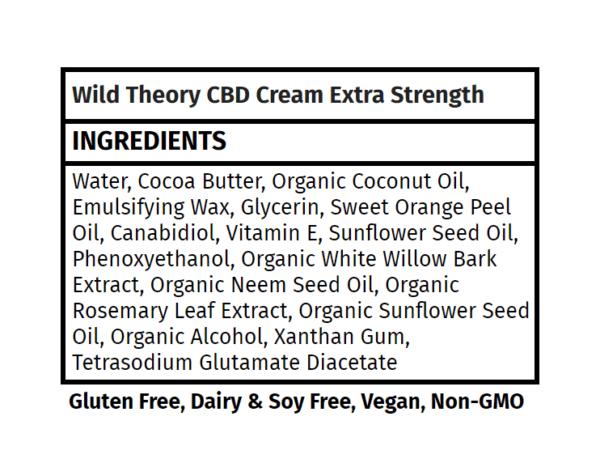 CBD Cream Wild Theory The Healthy Place Madison WI