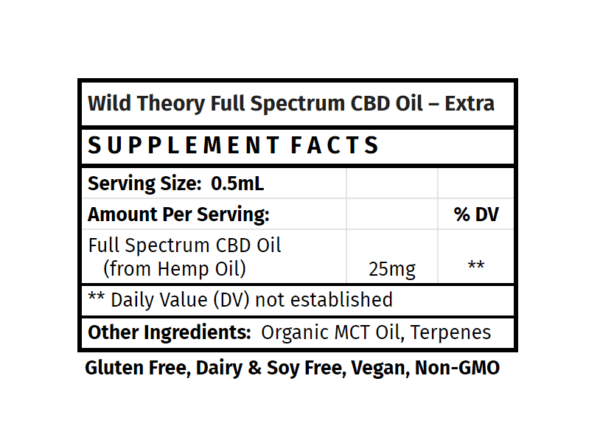 Wild Theory Full Spectrum CBD Oil