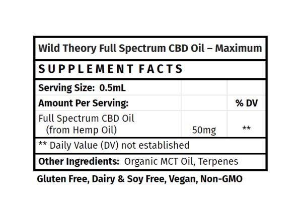 Wild Theory Full Spectrum CBD Oil - Maximum