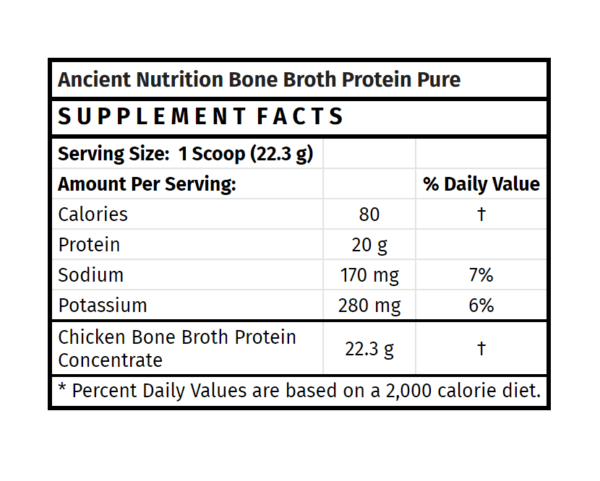 Ancient Nutrition Bone Broth Protein Pure The Healthy Place Madison WI
