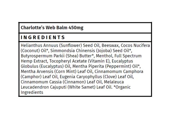 charlotte's web cbd balm 450mg madison wi the healthy place